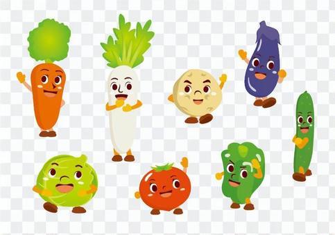 Vegetable character set