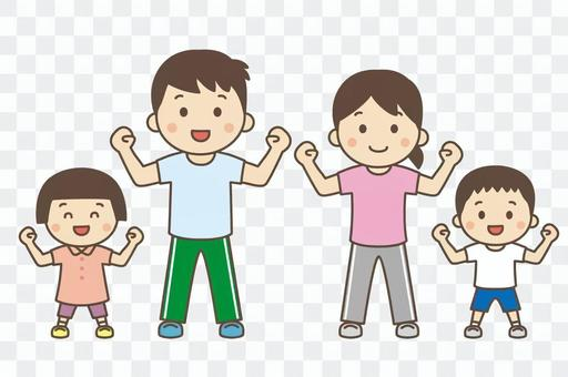 父母和孩子做體操