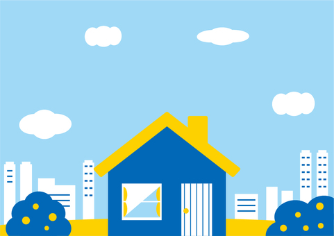 House with a refreshing color scheme Cityscape