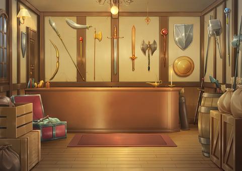 Weapon shop background illustration 03