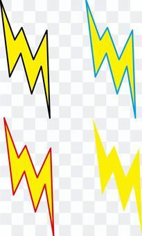 閃電標記電圖標簡單當前膽