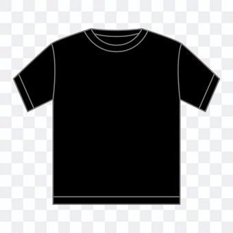 T-shirt_crew neck black