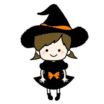 女巫禮服的女孩