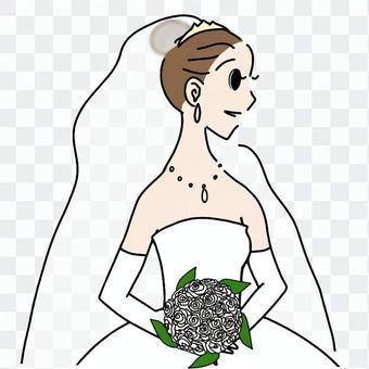 新娘_與花束