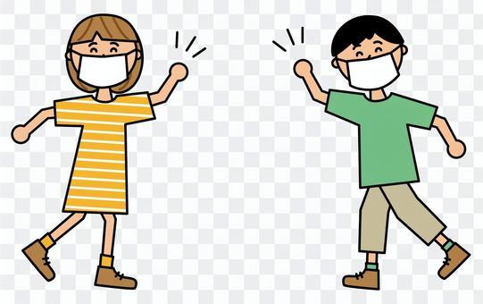 男女兒童空氣高五面罩