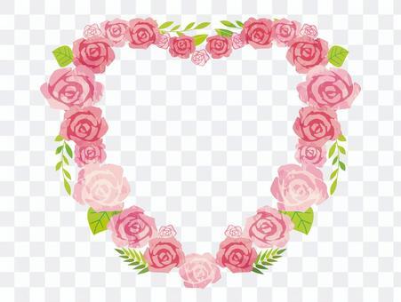 ハート型アーチの薔薇