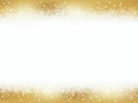 Seamless snow background gold