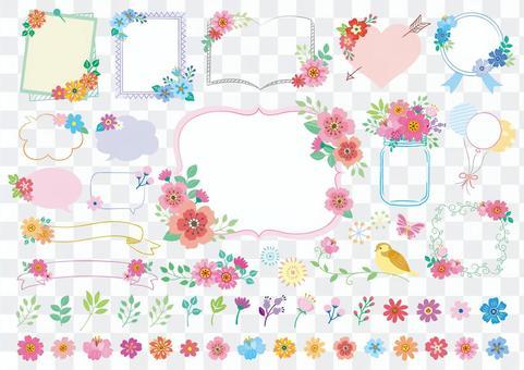 少女花框架材料