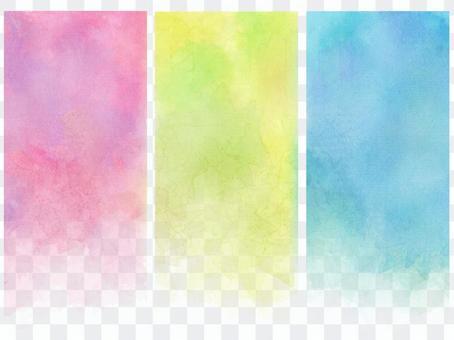 Watercolor vertical banner 2