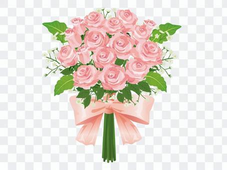 粉紅玫瑰婚禮花束/花束01