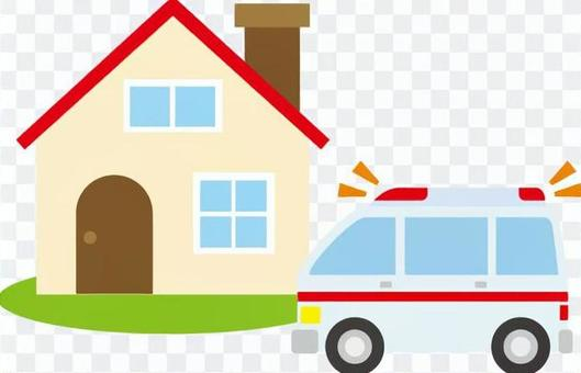 房子和救护车