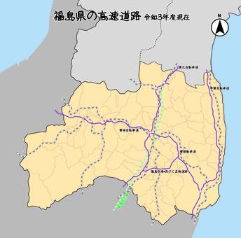 福島縣福島高速公路日本地圖