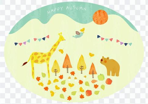 秋季动物的插图2