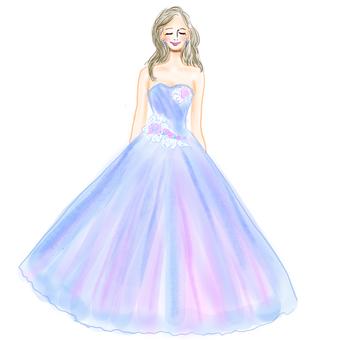 藍裙子的女人