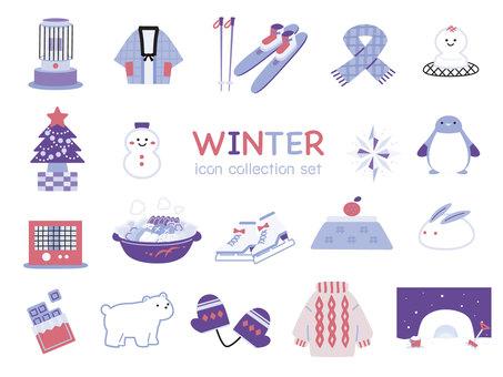 Cute winter icon purple