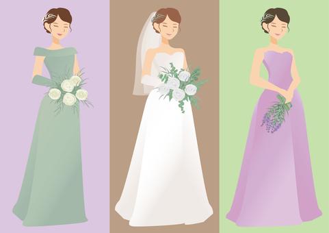 婚紗禮服和彩色禮服