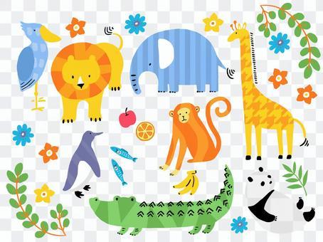 Animal illustration set for children