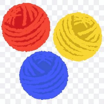 毛線球3種顏色