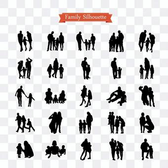 Family silhouette pack