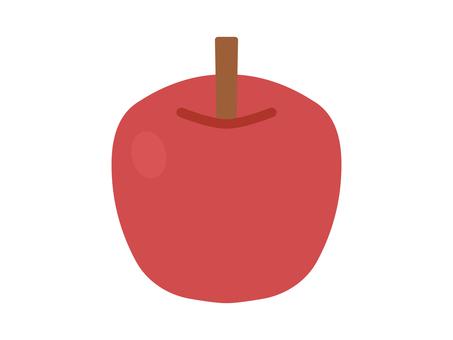 簡單可愛的紅蘋果插畫