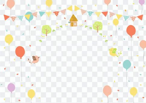 Balloon and bird frame 3