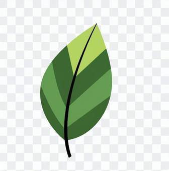 북유럽 풍의 잎 (녹색)
