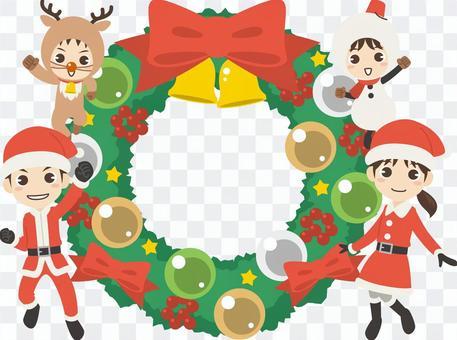 BZ020_聖誕節家庭框架4