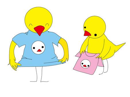 小鳥のTシャツ