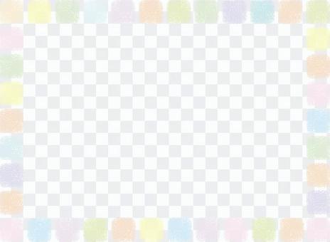 手寫的方形點框架框架裝飾簡單