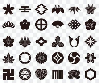Japanese icon / family crest set