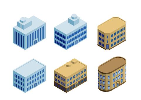 Commercial building set