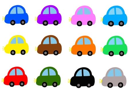 各種顏色的汽車