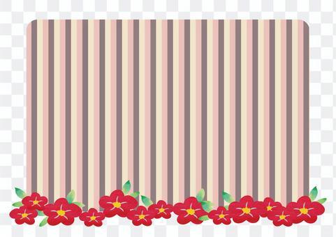 水彩手寫的山茶花框架