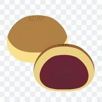 栗蛋糕(橫截面)