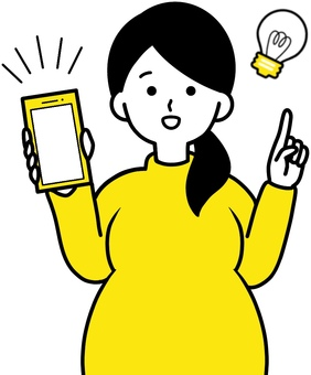 Convenient app for pregnant women with smartphones Yellow