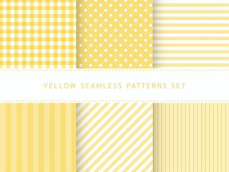 Yellow seamless pattern set