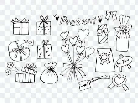 Gifts (line drawing)