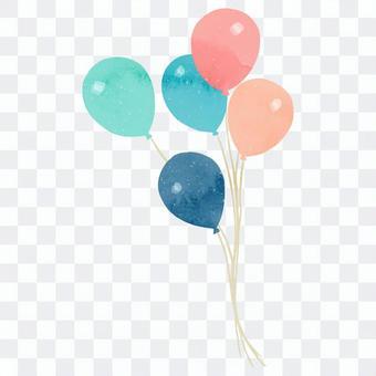 可以用於字母2的氣球的插圖