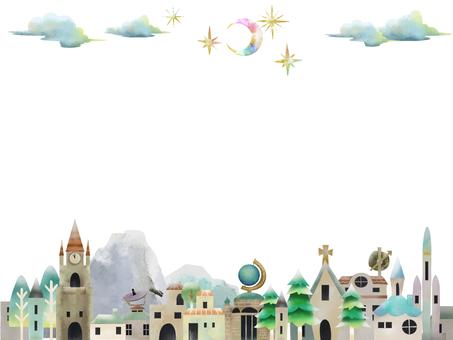 Starry city frame