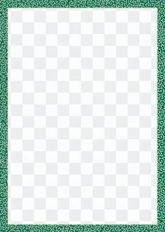 蔓藤花紋圖案(蔥)