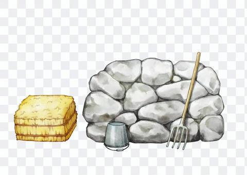 Cobblestone illustration