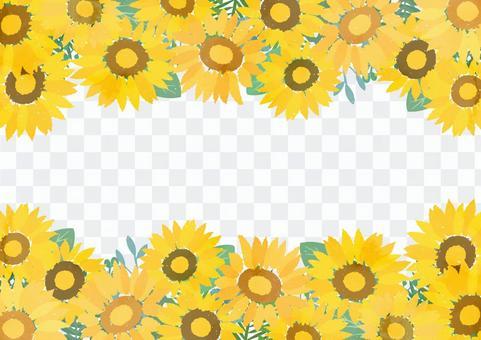 Summer decorative frame like a sunflower field