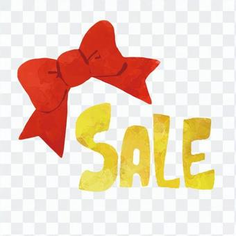 Sale and ribbon