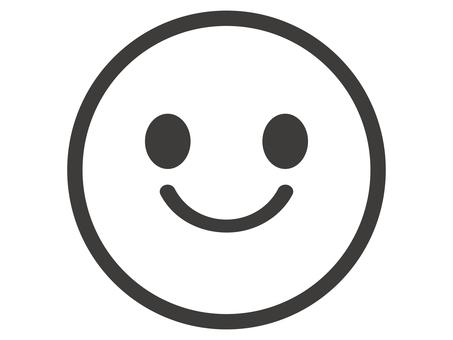 Cute smiley icon illustration