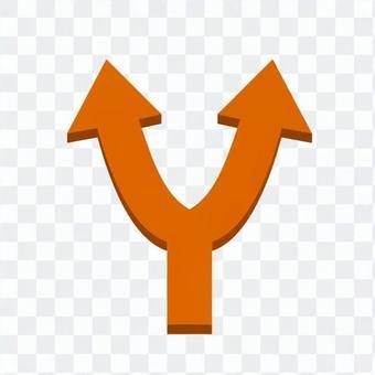 Branch arrow (Orange)