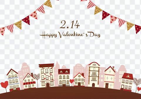 Valentine illustration 21 cityscape