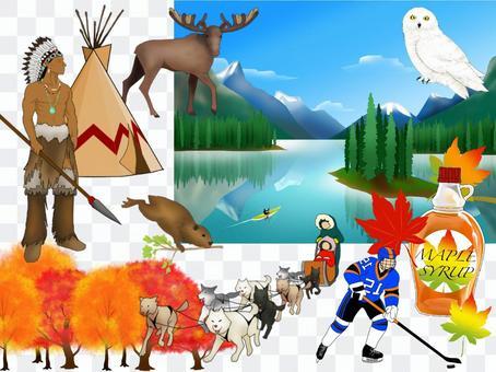 加拿大的圖像插圖