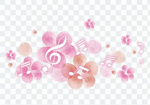 Decoration material 078 Illustration of music notation
