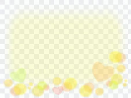 心臟類型和圓形圖案黃色類型