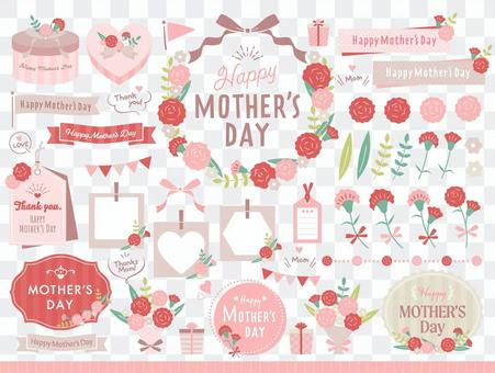 Mother's day, carnation frameset